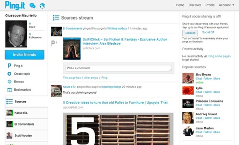 New Social Content Discovery Platform: Ping.it | technological tools for educators | Scoop.it