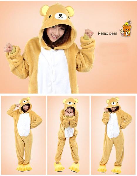 Relax bear Adult animals Onesie a8cb44fb93c51