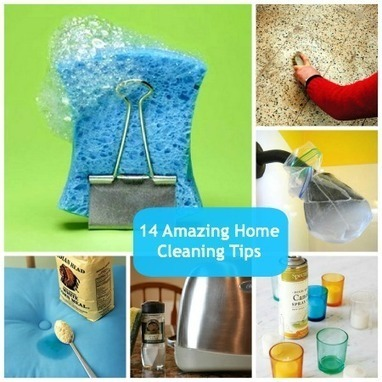 14 Household Cleaning Tips That Will Blow Your Mind | Amanda's Recipe Box | Scoop.it