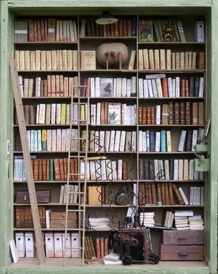 Les bibliothèques miniatures de Marc Giai-Miniet | Monde des bibliothèques | Scoop.it