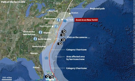 Hurricane Irene: interactive map   Mapping NYC hurricane   Scoop.it