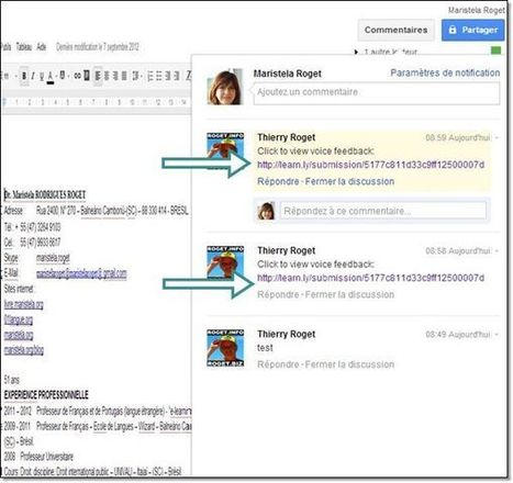 Ajouter des commentaires vocaux sur des documents de google doc | E-apprentissage | Scoop.it