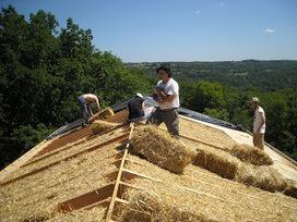Une toiture isolée en paille   Immobilier   Scoop.it