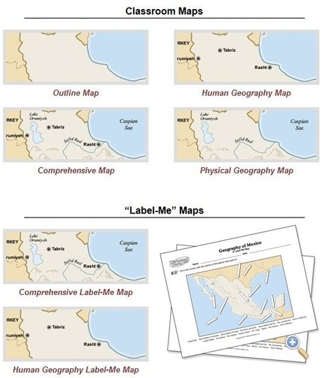 customizable maps of mexico geography education scoopit