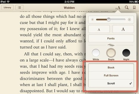 5 Simple Tricks for a Better Reading Experience with iBooks for iOS   iPads, MakerEd and More  in Education   Scoop.it