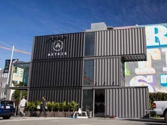 Aether Store Is a Standout  in Temporary Container City | Vertical Farm - Food Factory | Scoop.it