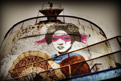 Forgotten cruise ship becomes sand Banksy with aid of street artists | Geog-on Golland | Scoop.it