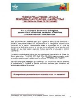 TÉCNICAS PARA APRENDER A PENSAR DESARROLLAR LA INTELIGENCIA - Orientacion Andujar | Inteligencias Múltiples | Scoop.it