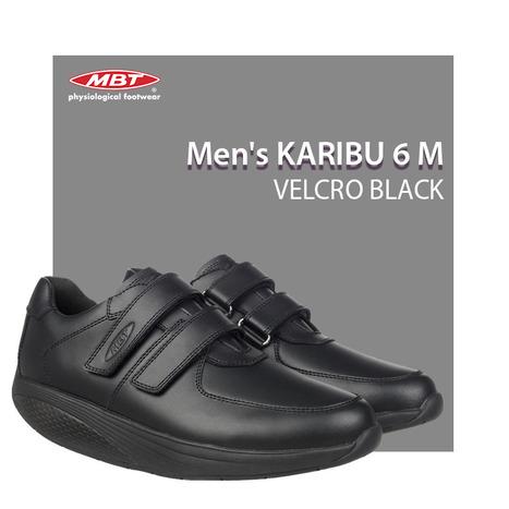 MBT Men s Karibu 6 M Velcro Black Shoe   MBT s ... 077f73a526