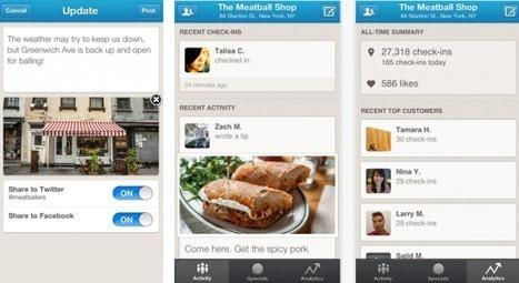 Foursquare drague les entreprises | French Digital News | Scoop.it