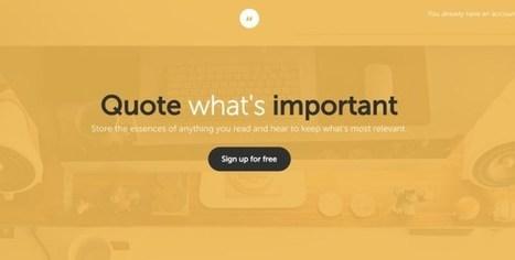 Sniipit. Conservez et partagez idées et grandes citations | Mon moleskine | Scoop.it