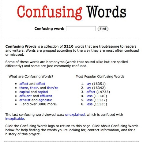Confusing Words | 6-Traits Resources | Scoop.it