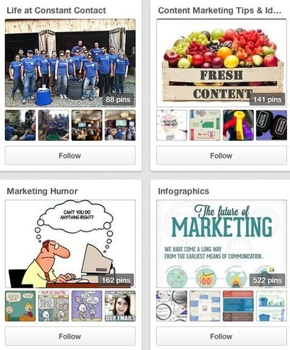 B2B - How Constant Contact Uses Pinterest to Reach a B2B Market   Pinterest for Business   Scoop.it