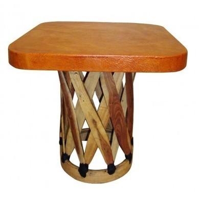 Sensational Square Mexican Equipale Coffee Table Furnitur Machost Co Dining Chair Design Ideas Machostcouk