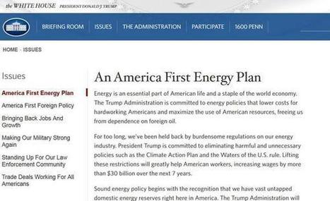 Trump vows broad rollback of Obama environmental policies on White House website | Sustainability Science | Scoop.it