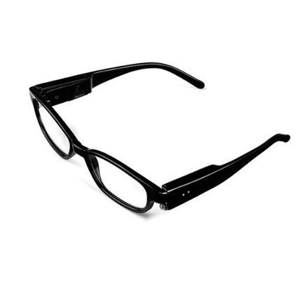 f103605f42 Bright LED Lighted Up Map Readers Reading Eye Glasses +3.00 Black Full  Frame Touch Switch Hand Free