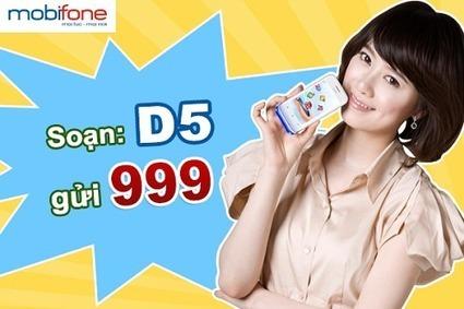 Cách đăng ký 3G Mobifone 1 ngày 5K gói D5 mới nhất 2017
