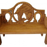 Horse Hand Painted Mexican Pine Bench