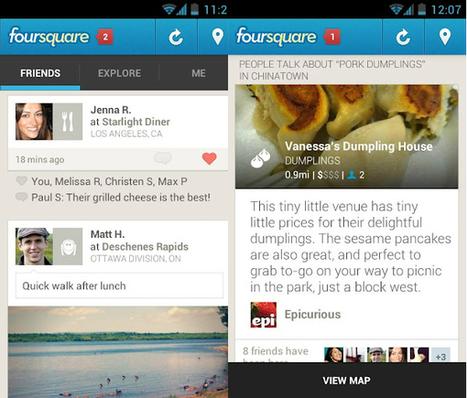 Foursquare actualiza su app para Android | PoderPDA | Foursquare y sus novedades | Scoop.it
