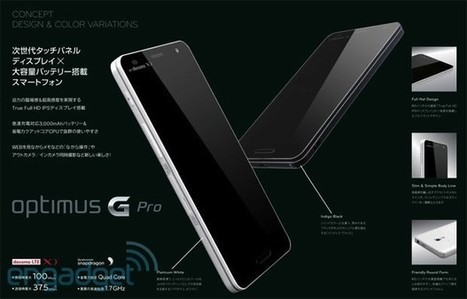 LG's Optimus G Pro revealed in leaked image with 5-inch 1080p display, 3,000mAh battery and LTE | Mobile Technology | Scoop.it