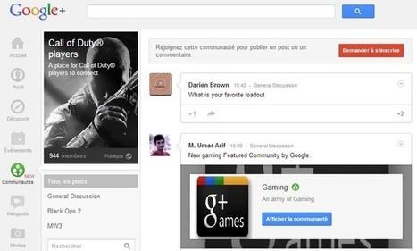 Google+ lance les communautés et a 135 millions d'utilisateurs actifs | Ardesi - Web 2.0 | Scoop.it