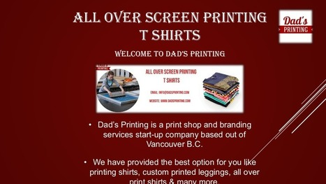 Dad s Printing Provide All Over Screen Printing T Shirts 90ec11046