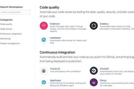 GitHub ouvre un marketplace d'outils pour les c