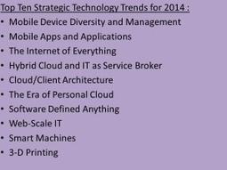 Gartner: Top 10 Strategic Technology Trends For 2014 | Additive Manufacturing News | Scoop.it