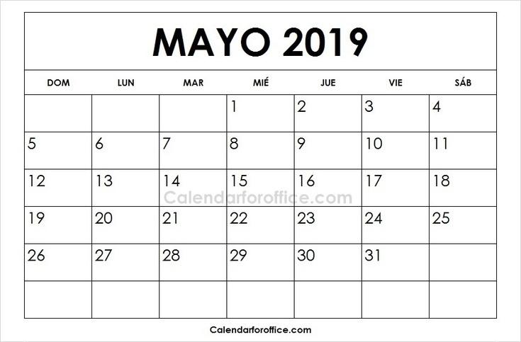 May Spanish Calendar : May calendar spanish calendario m