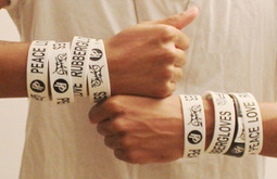 Personalised Personality — Peace Love, Rubber Gloves | Wristbands | Scoop.it