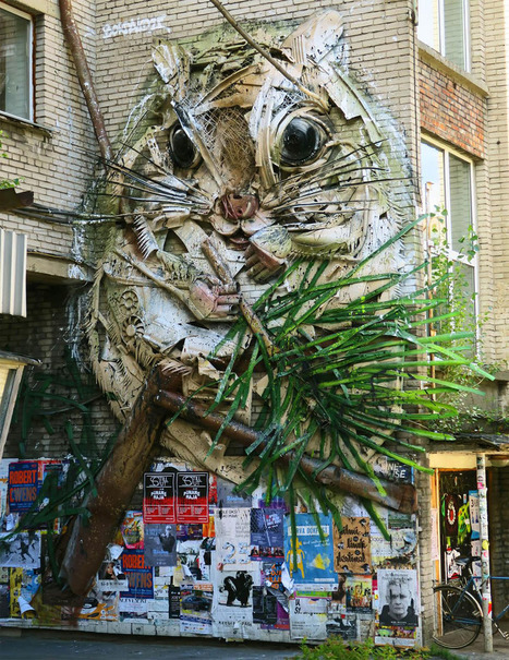 Animalistic Trash Sculpture by Bordalo II | Art Installations, Sculpture, Contemporary Art | Scoop.it