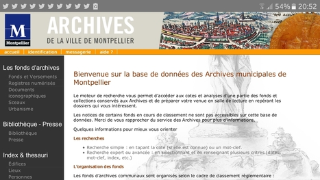 Archives Municipales de Montpellier - Accueil | Nos Racines | Scoop.it