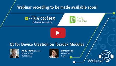 Webinar: Qt for Device Creation on Toradex Modu