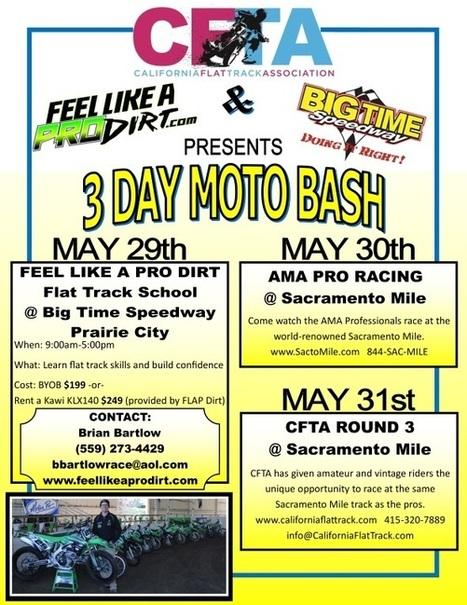 Sacramento Mile Amateur and Vintage Pre-Entry | California Flat Track Association (CFTA) | Scoop.it