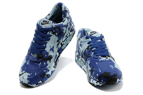 new product c1070 9457b Nike Air Max 1 France SP Camouflage Blue Shoes Cheap Now