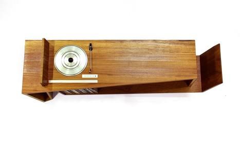 console tourne disque en bois le disque vin. Black Bedroom Furniture Sets. Home Design Ideas