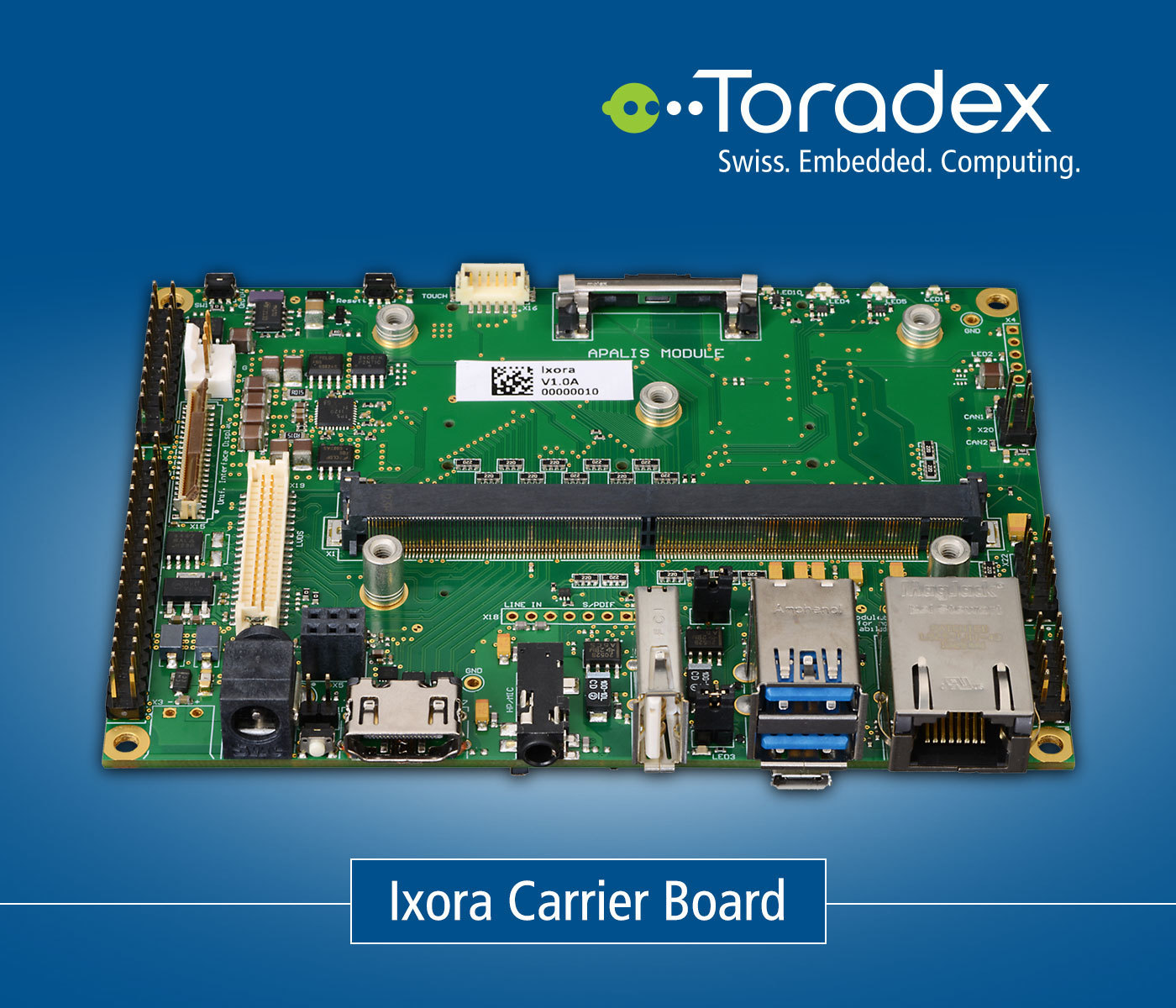 Ixora Carrier Board - ARM Evaluation Boards | T