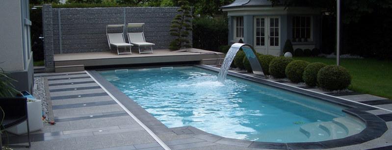 Fontaine cascade et lames d 39 eau piscine pisc - Horaire piscine fontaine d ouche ...