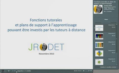 Fonctions tutorales et plans de support à l'apprentissage | XPERTEAM | Scoop.it
