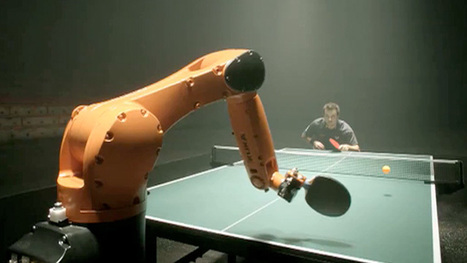 Table tennis star 'goes head-to-head with high-speed robot' – video | Marketing in Motion | Scoop.it