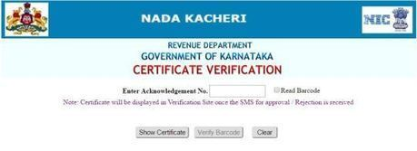 nadakacheri karnataka gov in Income & Caste