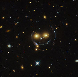 from the #Hubble - #galaxies #smiling down upon us . . .   EARTHCOVE - a place for peaceful interplanetary & interspecies relations   Scoop.it
