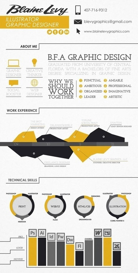 30 innovative and inspiring infographic resume designs web design blog web designer resources - Effective Resumes