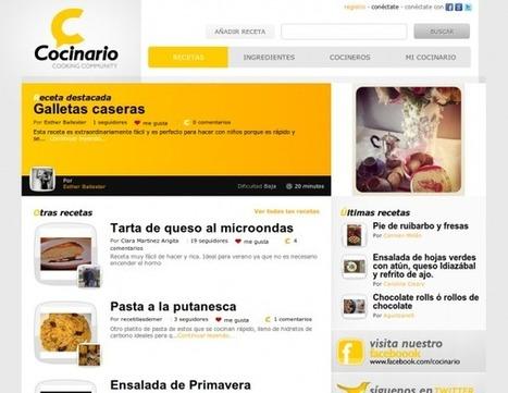 Cocinario – Nueva red social de cocina en español, programada desde cero.- | Google+, Pinterest, Facebook, Twitter y mas ;) | Scoop.it