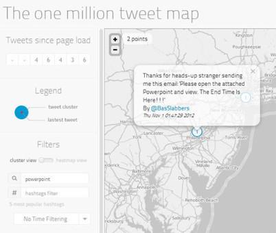 The One Million Tweet Map: Utilizar un Mapa Para Visualizar los Tweets en Todo el Mundo | Presentaciones PowerPoint | Scoop.it