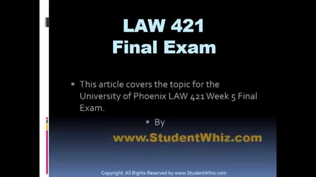 comtempary law 421 final exam