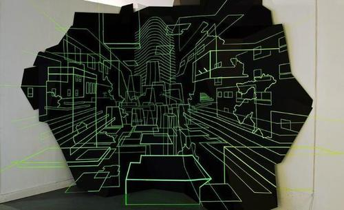 GpA4eLyeOqPAzaHIxXVNLDl72eJkfbmt4t8yenImKBXEejxNn4ZJNZ2ss5Ku7Cxt - Damien Gilley's optical illusion tape architecture | ArtDiscover