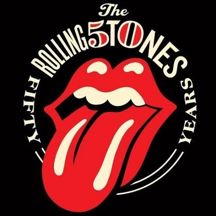 The Rolling Stones Celebrates Its 50th Anniversary With A New Logo - DesignTAXI.com | Pop Culture Ninja | Scoop.it