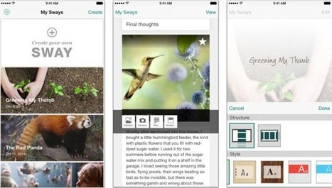Microsoft Sway pour iPhone se déploie doucement | ProfessionalDevelopment PerfectionnementProfessionnel | Scoop.it