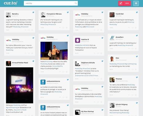 cur.to : un outil gratuit pour monitorer un hashtag   François MAGNAN  Formateur Consultant   Scoop.it
